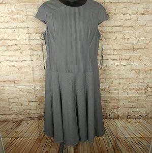 Anne Klein Grey Pinstripe Size 16 Dress
